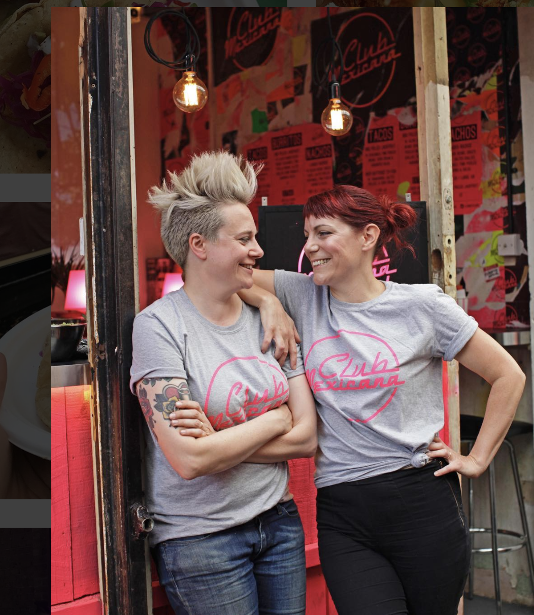 Meriel Armitage and Lois Davidson, vegan power couple of Club Mexicana