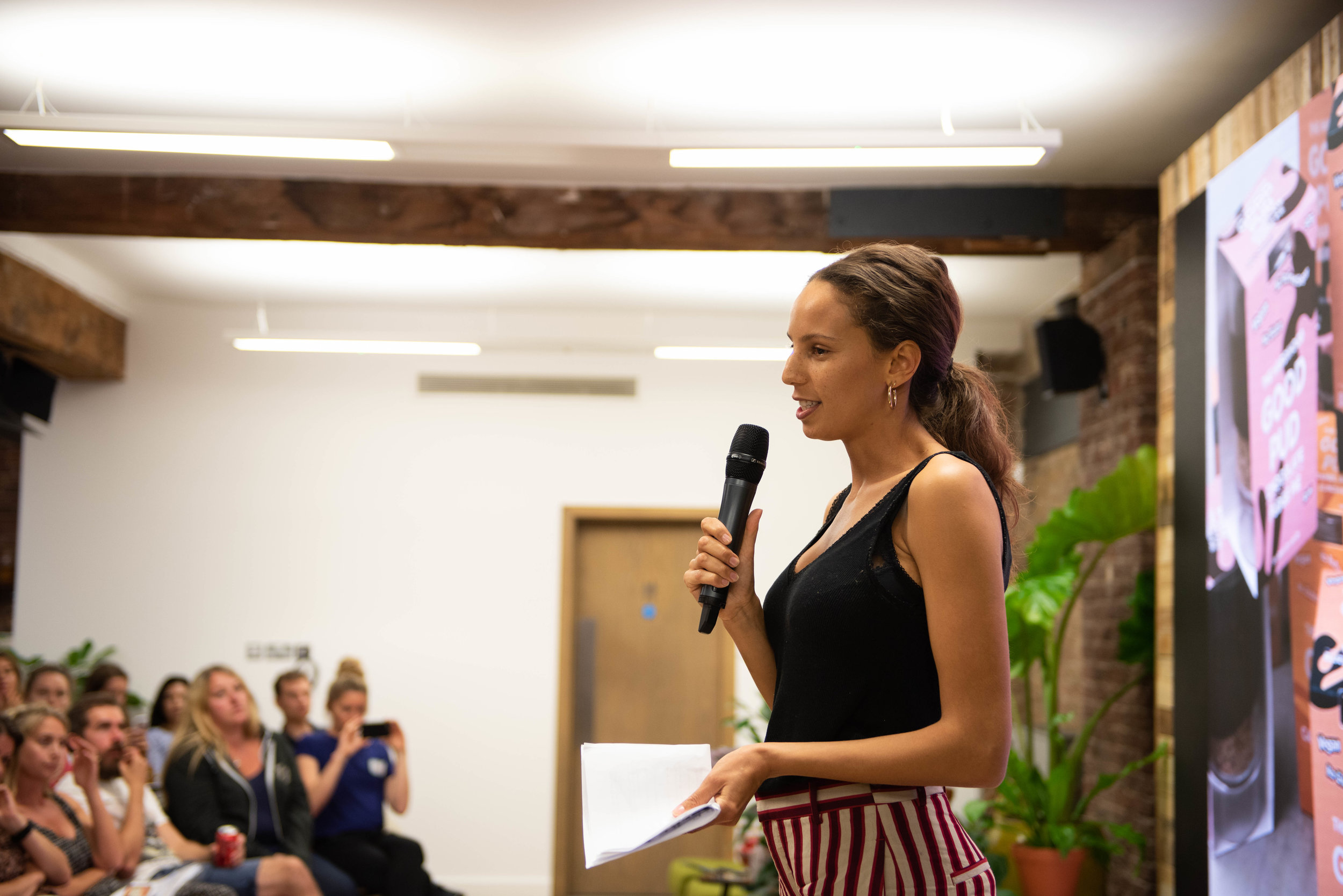 Leah Garwood - Gowers of The Hardihood during her Pitch + Plant Pitch The Hardihood