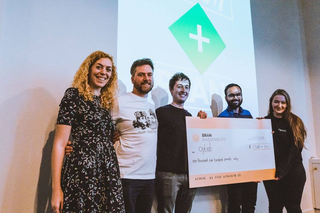 Optiat scooped first place at the inaugural Pitch + Plant event in 2017