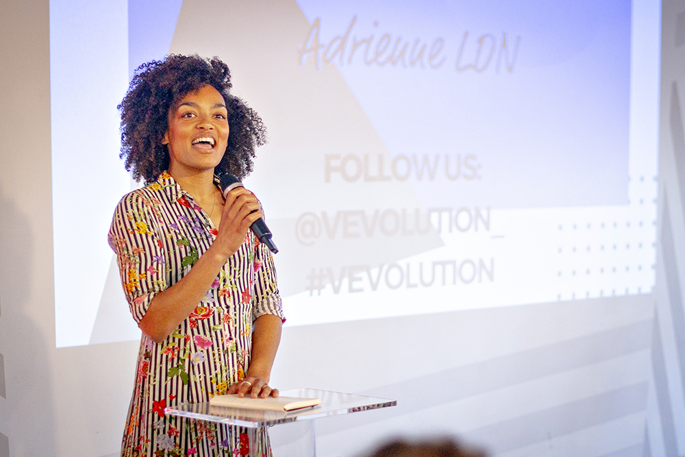 Adrienne Herbert speaking at Vevolution Topics: Health and Wellbeing