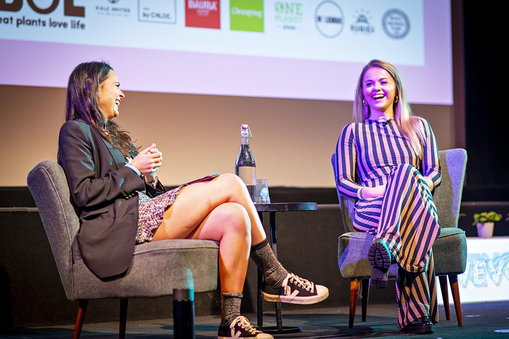 Venetia Falconer in conversation with influencer Stefanie Moir (Naturally Stefanie) at Vevolution Festival 2018
