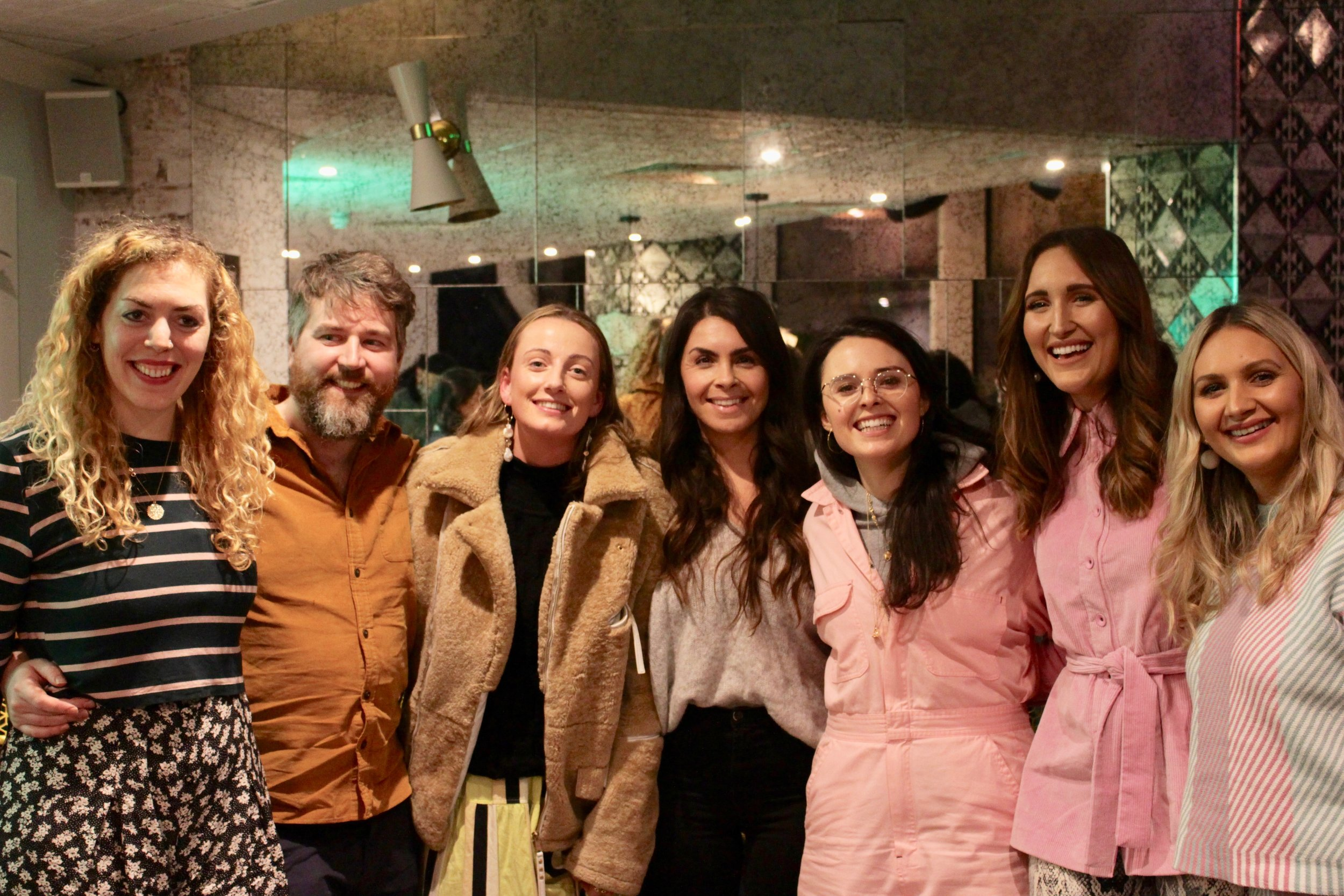 Vevolution co-founders, Judy & Damien, Jemma Finch, Alessandra Petrucci, Venetia Falconer, & Sophie & Hannah Pycroft