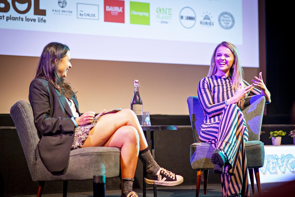 Venetia Falconer & Stefanie Moir at Vevolution Festival.