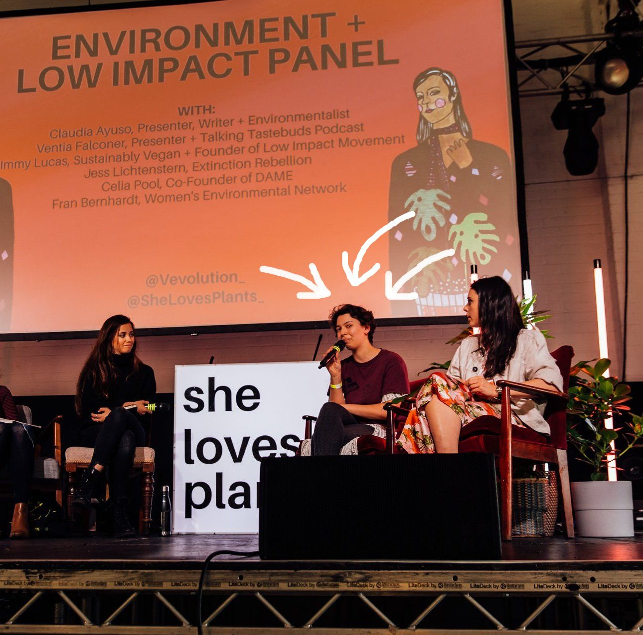 Jess on the Environment & Low Impact Panel at She Loves Plants
