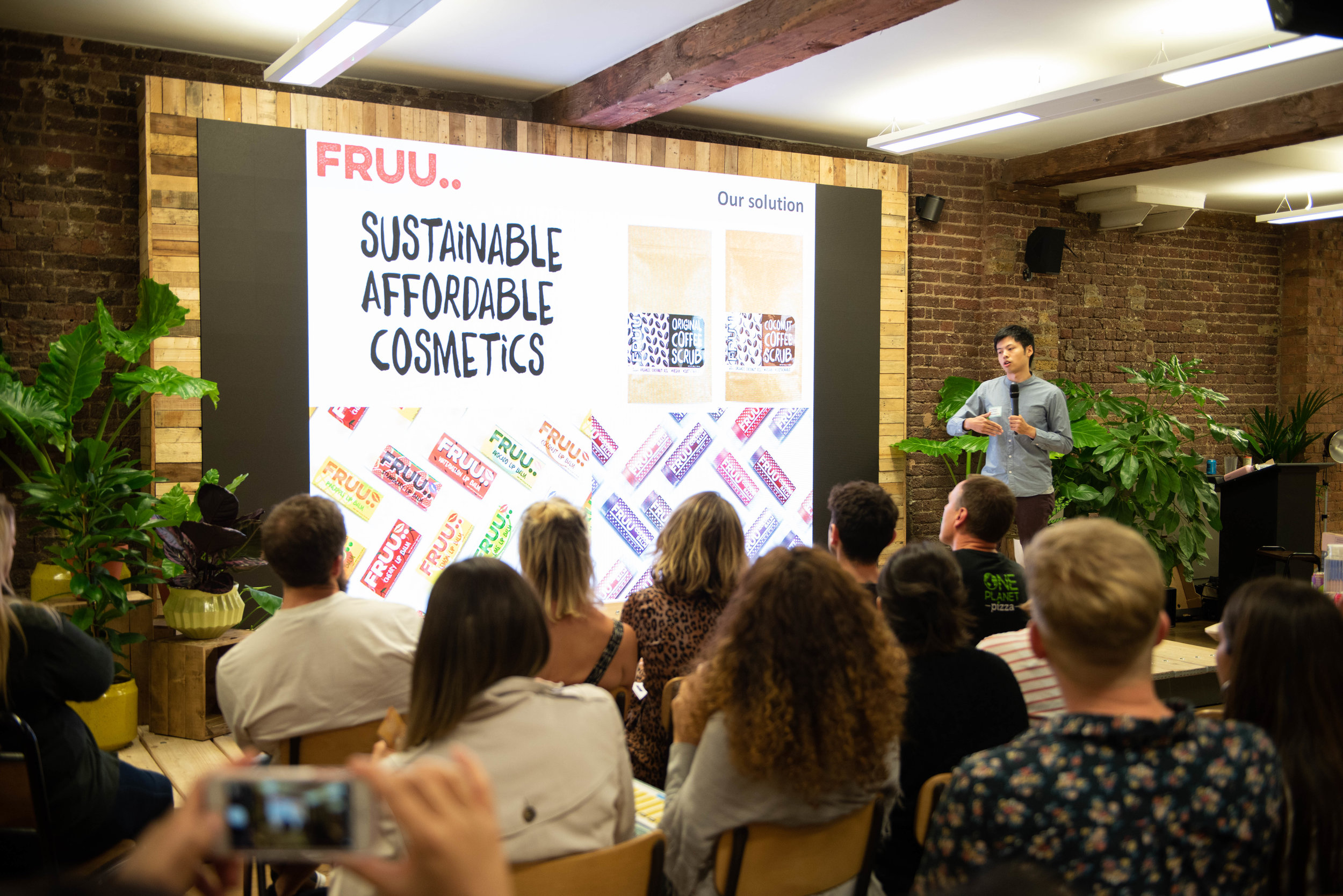 Terrance at Vevolution's Plant Based Business Bootcamp & Pitch + Plant 2018