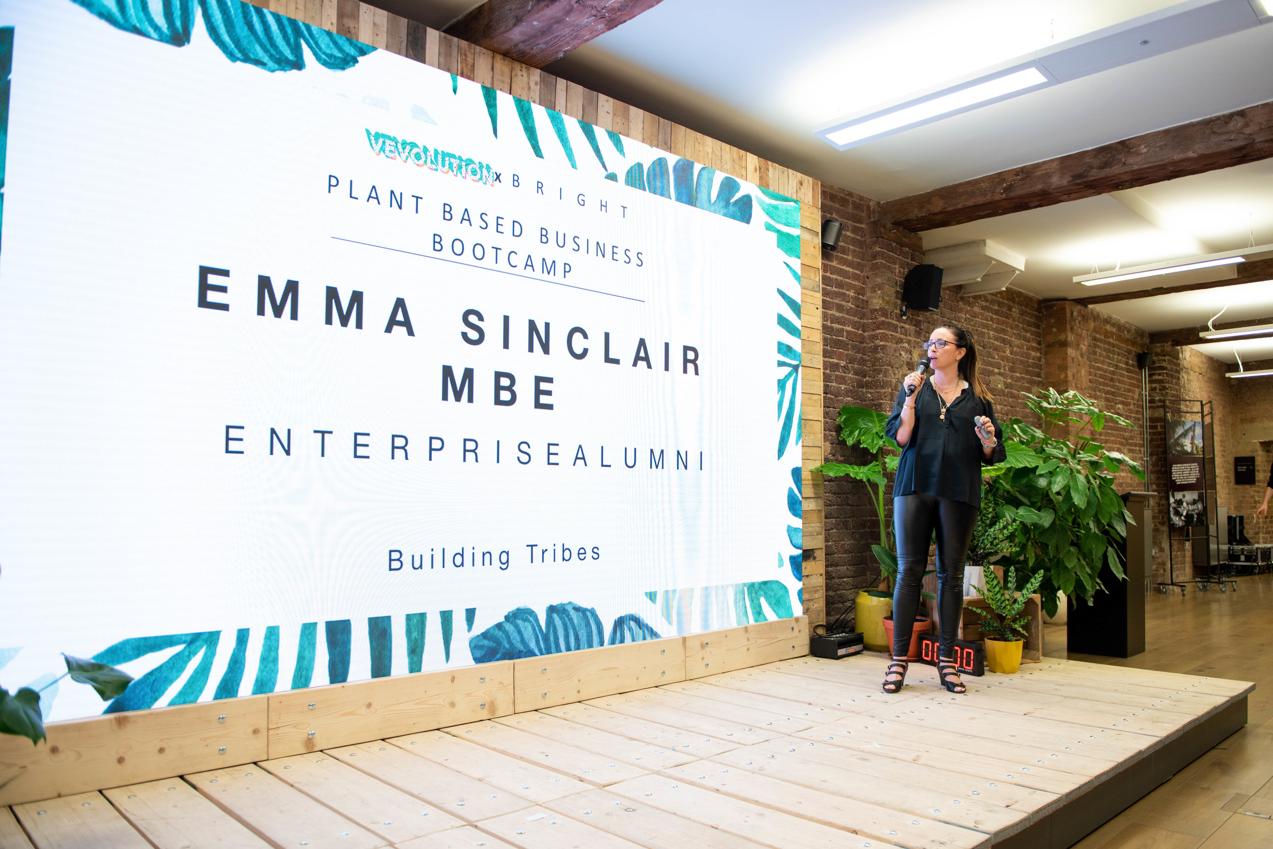 Emma Sinclair at Plant Based Business Bootcamp 2018