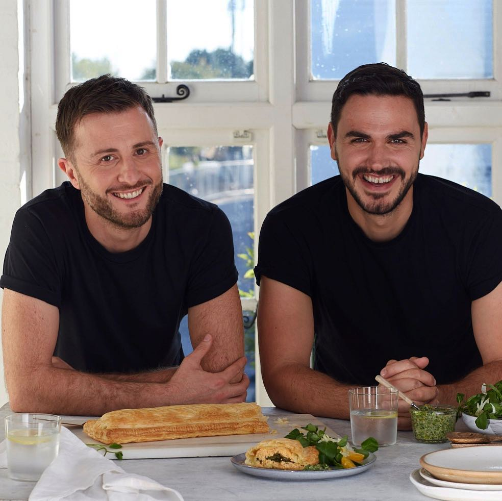 Henry Firth and Ian Theasby are the faces of National Vegetarian Week