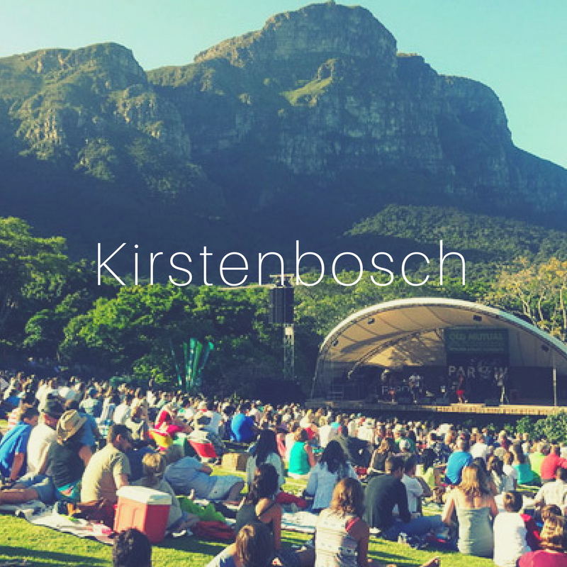 - Kirstenbosch Botanical Gardens is the only indigenous plant garden in the world. The Gardens span 528 hectares over the southern buttresses of Table Mountain. 60 hectares are cultivated to display the incredibly diversity of the Cape Floral region. During the summer months, from December to February, keep an eye out for the Sunday afternoon open air concerts, hosting a number of local and international performers.