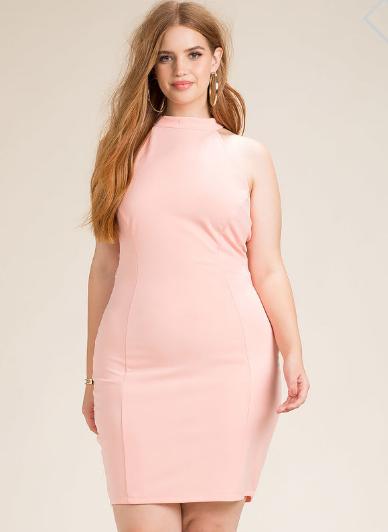 Women s Plus Size Bodycon Dresses   Mesh Crush Halter Bodycon Dress   A GACI.png