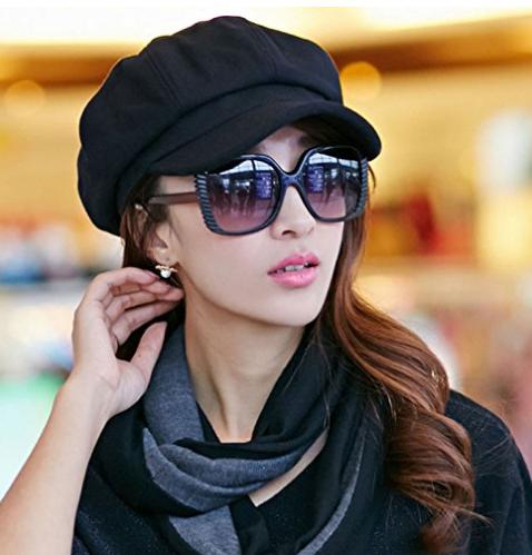 Womens Visor Beret Newsboy Hat Ivy Cap  Black  at Amazon Women's Clothing store .png