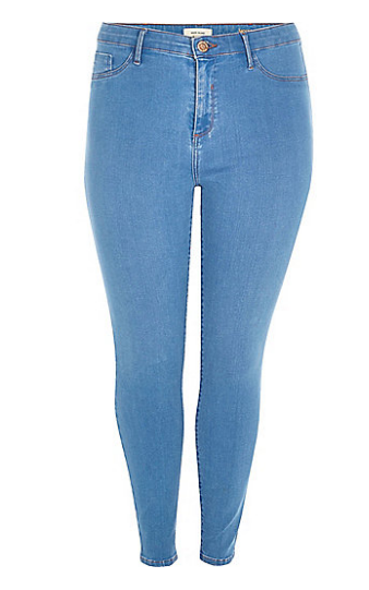 Plus bright blue Molly skinny jeans   skinny jeans   jeans   women.png
