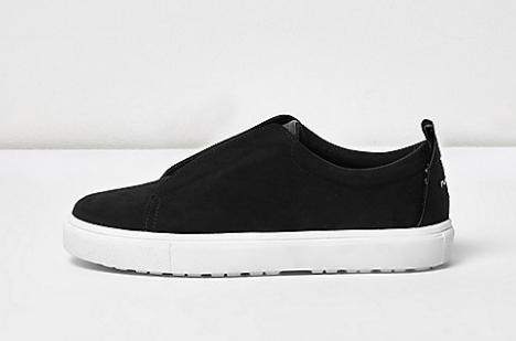 Black wide fit slogan heel print plimsolls   plimsolls   sneakers   shoes   boots   women.png
