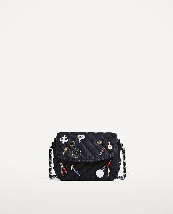 Zara Denim Crossbody Bag