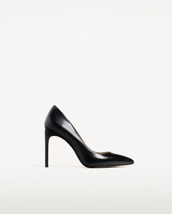 Zara Leather High Heel Shoes
