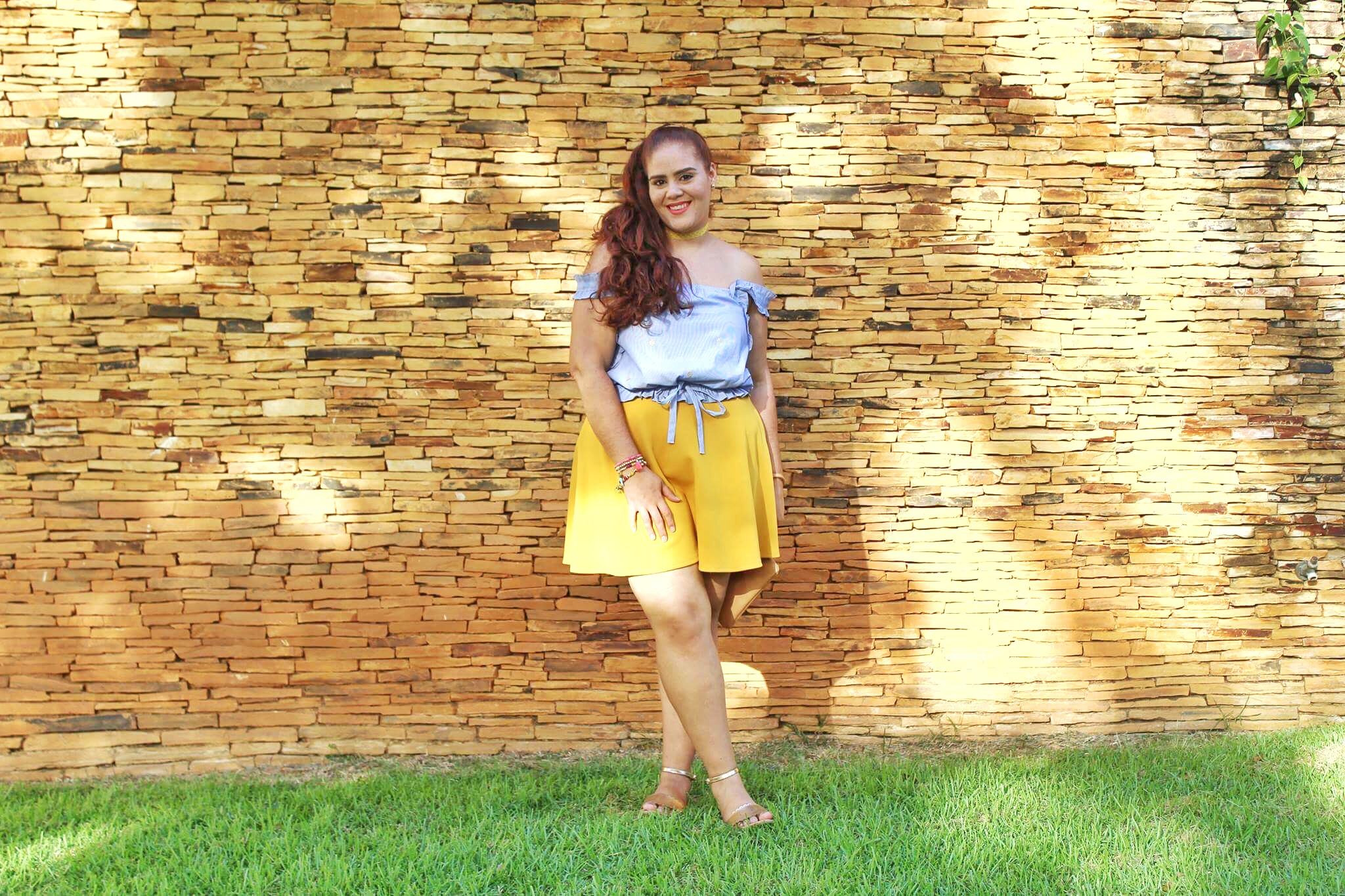 Top ,  Skirt  (Similar), Choker (Made by me for me lol),  Bracelets ,  Bag  (It's also a charger!), Sandals ( Option 1 ,  Option 2  &  Option 3 )