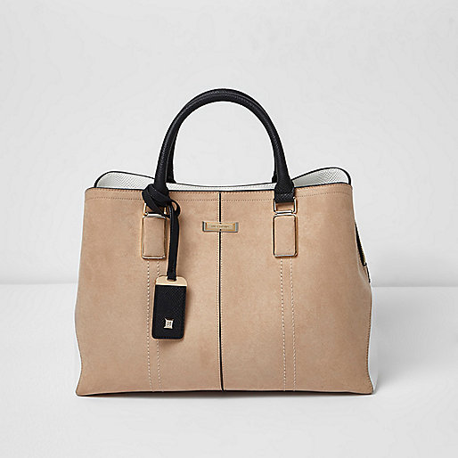 River Island Beige Structured Tote