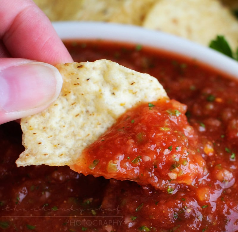 The Chunky Chef - 5 Minute Restaurant Salsa