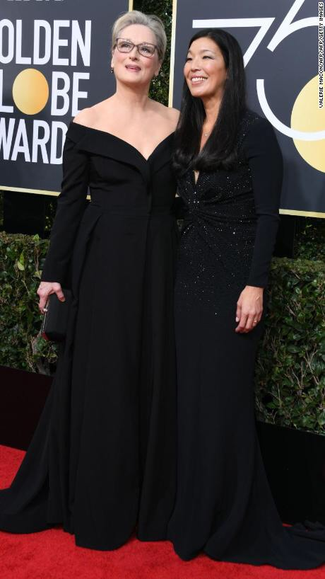 Meryl Streep attended with Ai-jen Poo, director of the National Domestic Workers Alliance