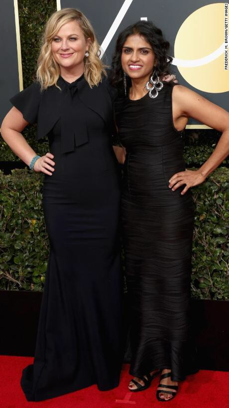 Amy Poehler attended with Saru Jayaraman, president of Restaurant Opportunities Centers