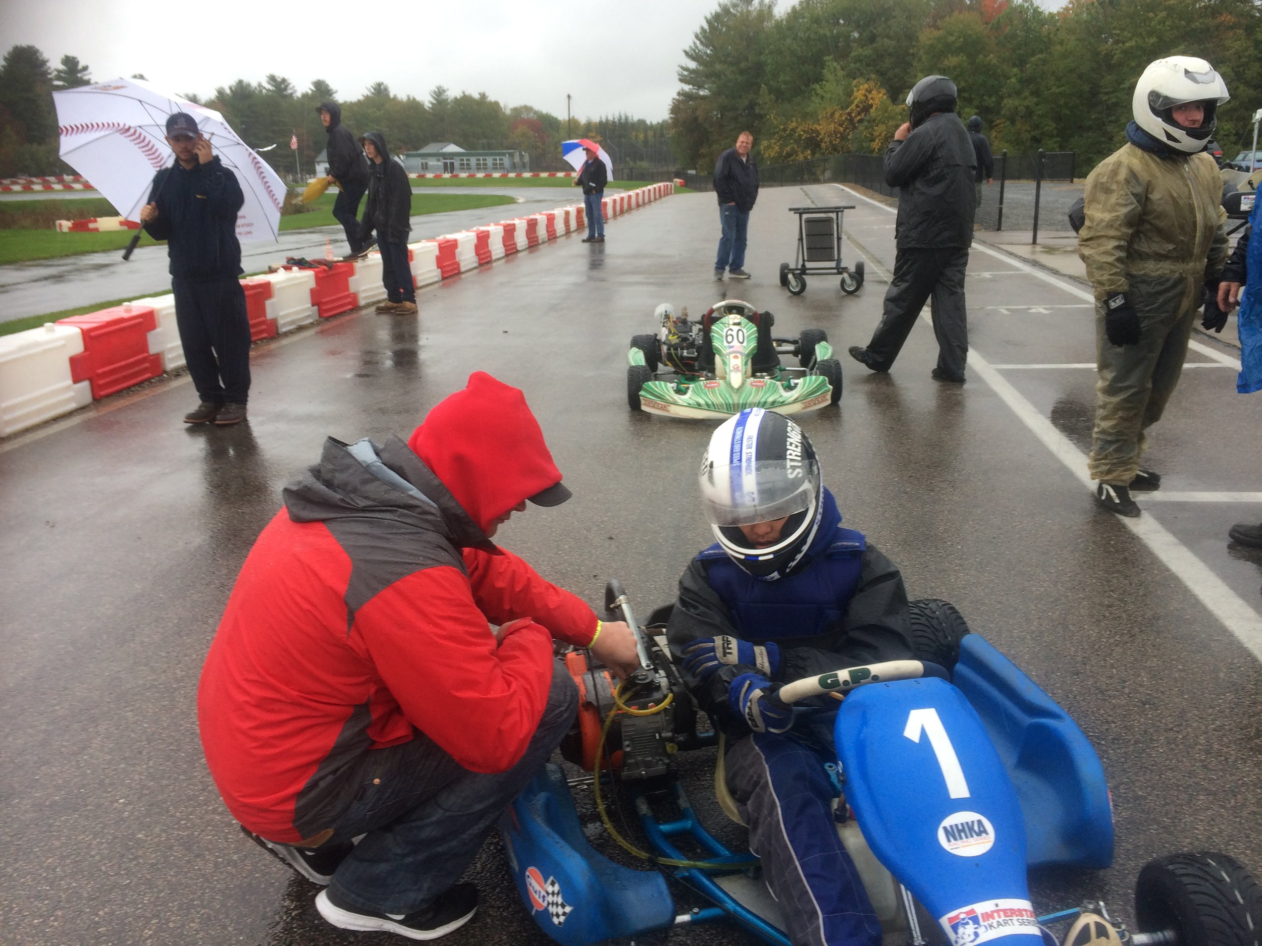 Working with his racing coach