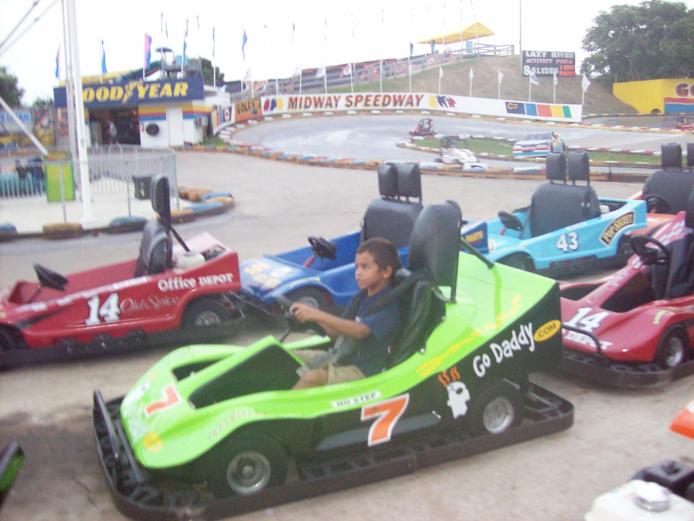 Blake Go Karting at Age 5