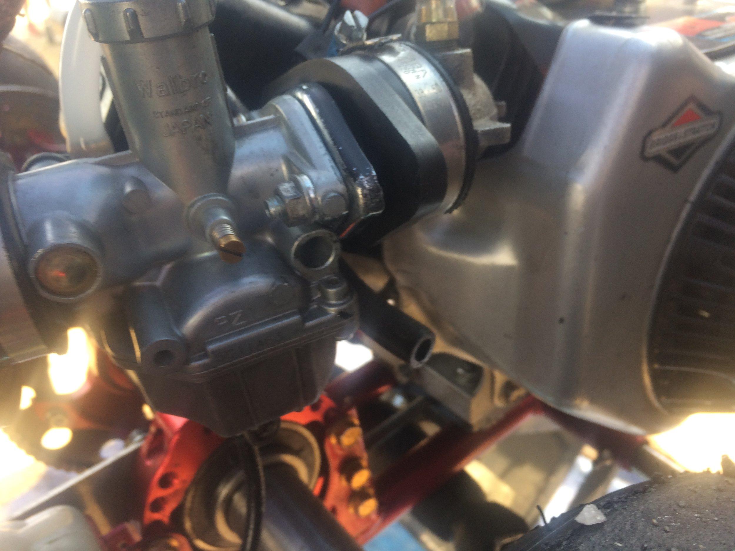 Melted Carburetor Mount
