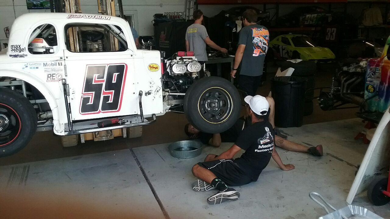 Blake spends many hours each week at AK Performance where he cleans and helps with the work on his #59 car to keep it running in top condition.