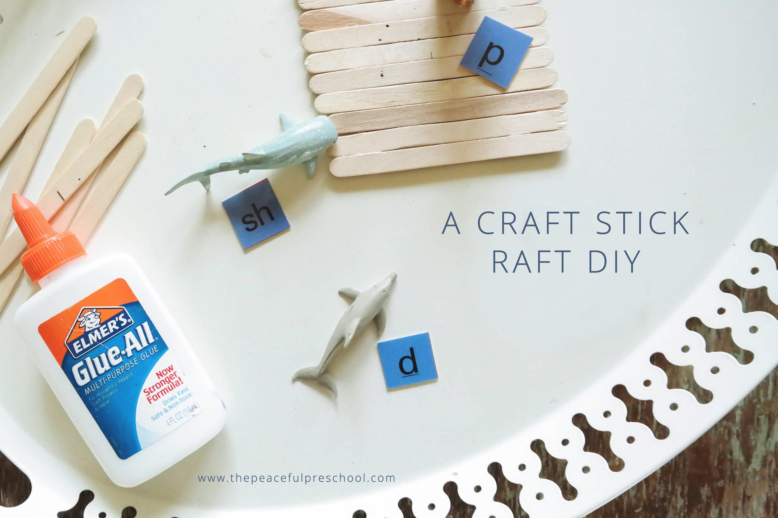 The Peaceful Preschool // Craft Stick Raft DIY