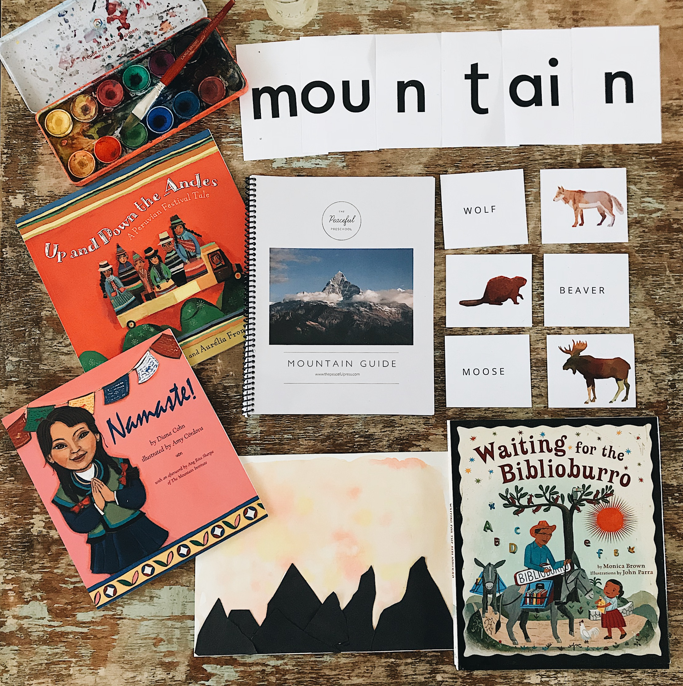 Check out our new Mountain Guide for around the world preschool learning!