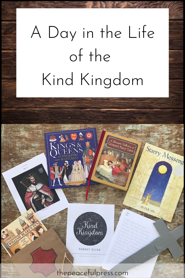 Here you will find one day of lessons from our sample week of The Kind Kingdom. Take a break from your regular homeschool program to observe your children as you provide a framework of literature based activities, while also offering some free time for them to develop interest led learning.