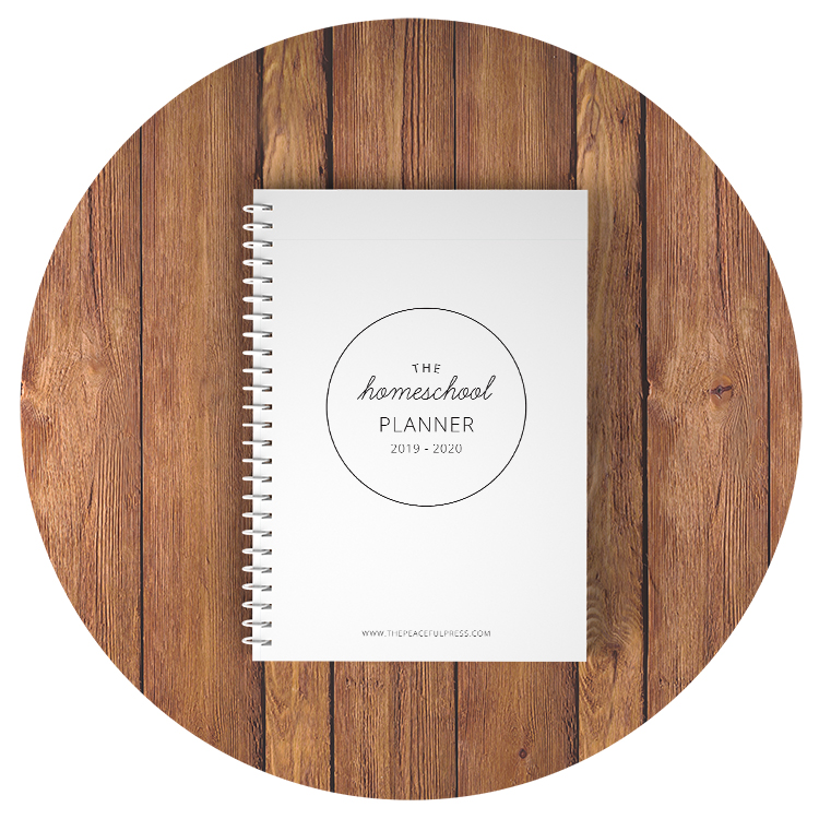 Homeschool Planner // The Peaceful Press // www.thepeacefulpress.com