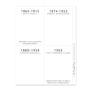The Peaceful Press - Timeline Cards