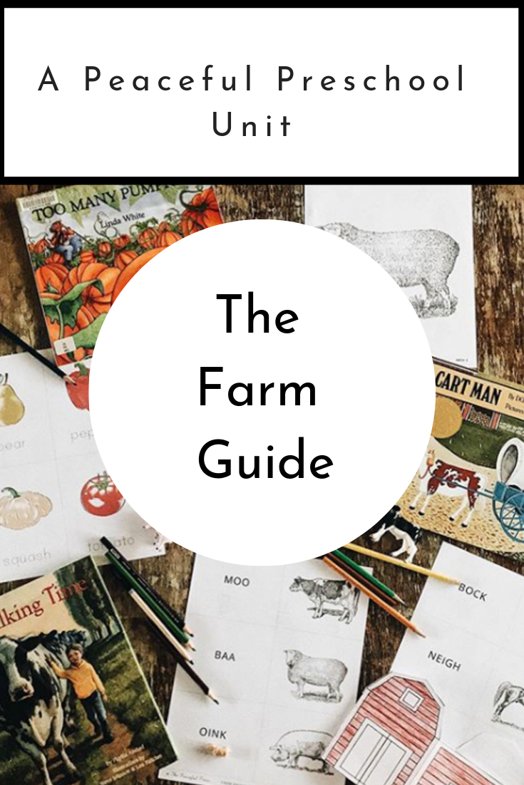 The Peaceful Preschool: Farm Guide  includes four weekly grids with activities to follow the work begun in  The Peaceful Preschool.  Your   3-5 year old child will continue developing large and fine motor skills, phonics and counting skills, along with their love for literature through the stories and projects included in  The Peaceful Preschool: Farm Guide.