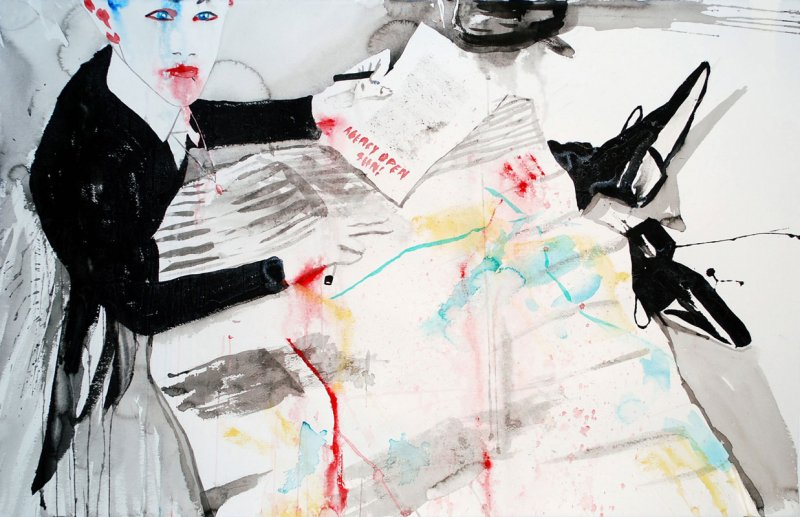 Luke Worrall with Map of Milan #2