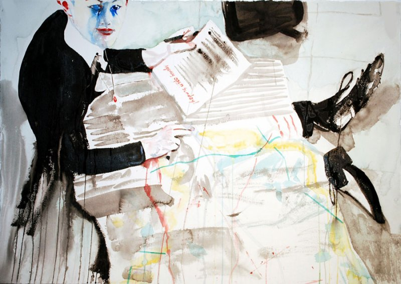 Luke Worrall with Map of Milan #3