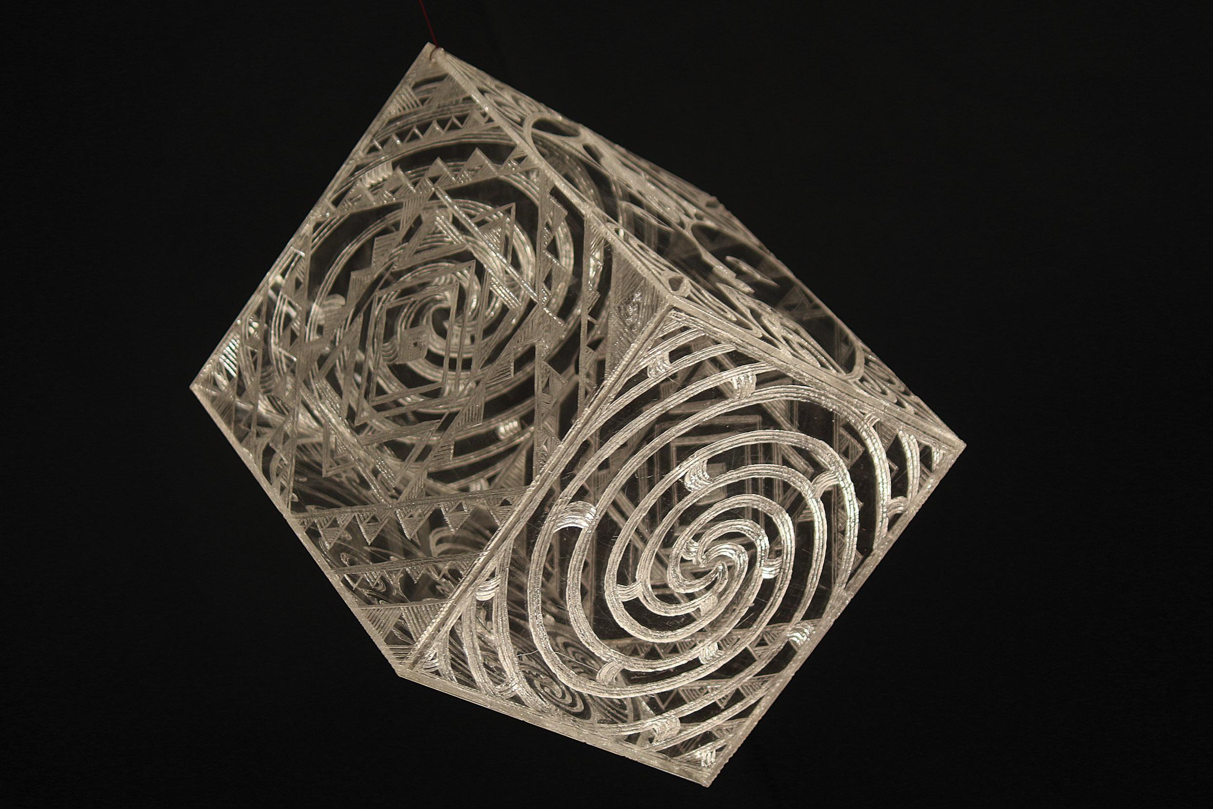 Wind Cube   George Nuku, carved perspex