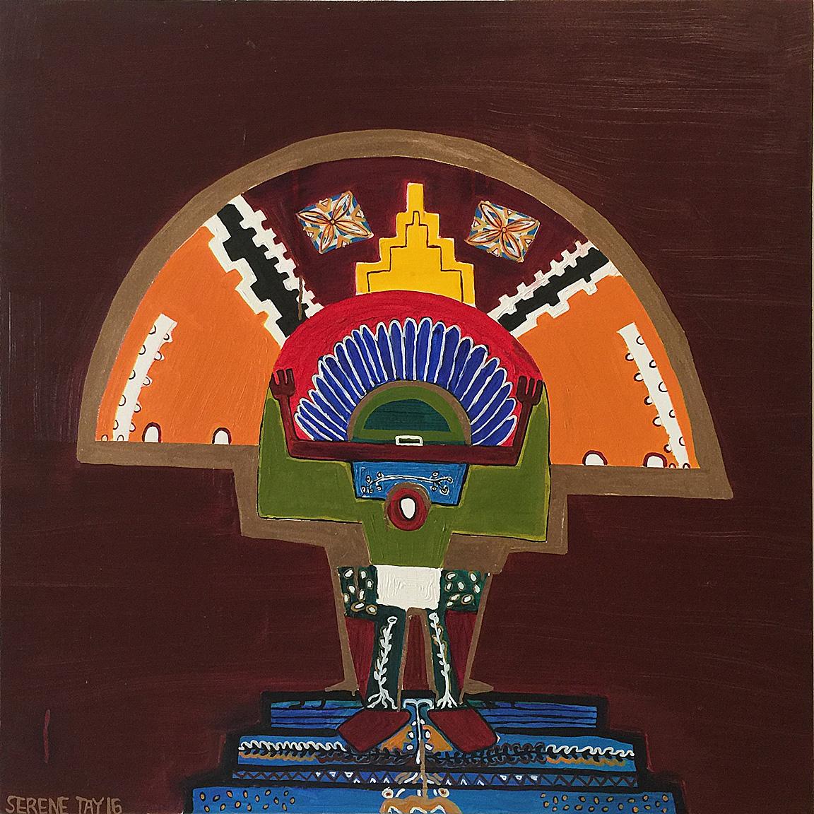 Homage to Pueblo  Serene Hai Thang Whakatau Tay, oil on canvas (2016)