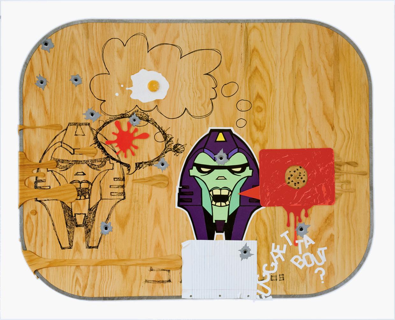 "Untitled  48.5"" X 39.5"" Acrylic on Panel 2008"