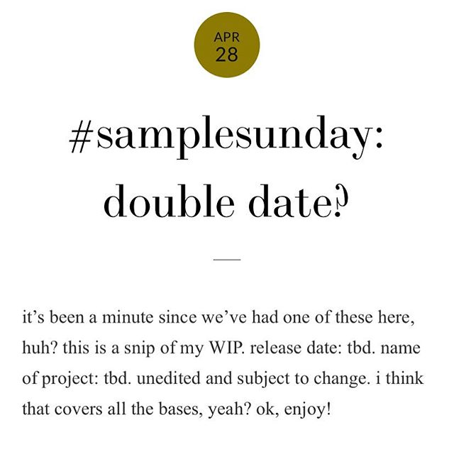 #samplesunday goodness over on the blog today! 🔗: http://www.nicolefalls.com/blog/2019/4/28/samplesunday-double-date