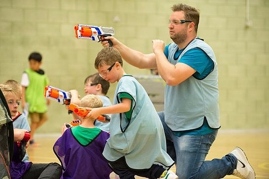 Nerf dodgeball tonight!!! Dinner at 530. Games and study 6-715