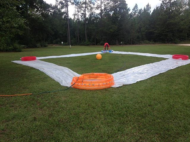 Slip and slide kickball tonight!!! Starts 530!!! Bring some clothes that can get wet