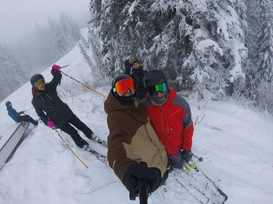 Myself and some of my buddies on opening day at Silver Star Mountain :D