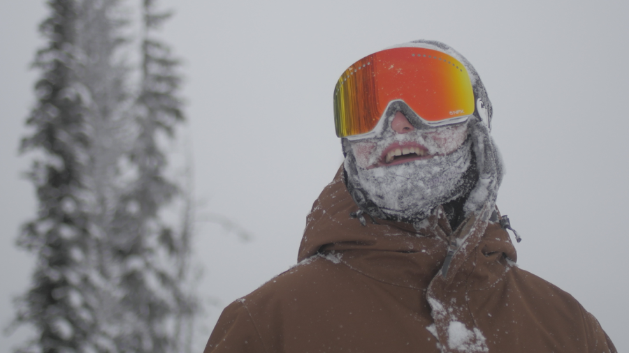 Face full of snow after one of the First Laps on opening day !