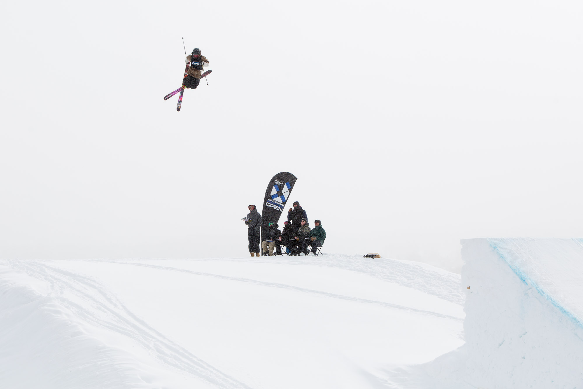 Flying over the judges