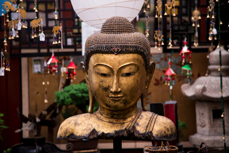 Large statue head of Buddha