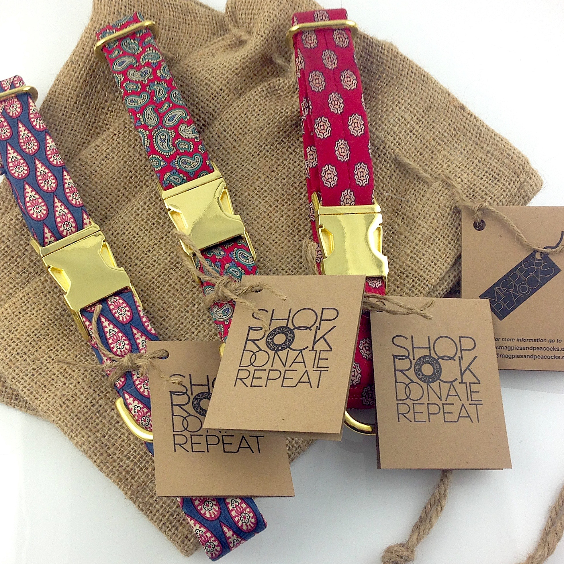 Up-Cycled Tie Dog Collars