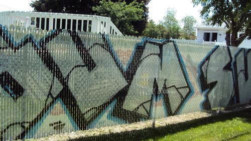 Frost Fence ( Gaétan-Boucher Blvd, St-Hubert) - before