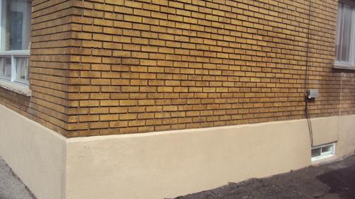 Brick wall - after