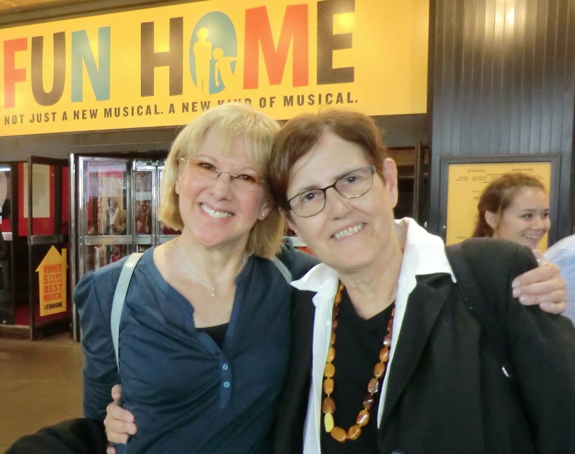 Maggie, at the theater with Lynn Emanuel, New York City, 2014