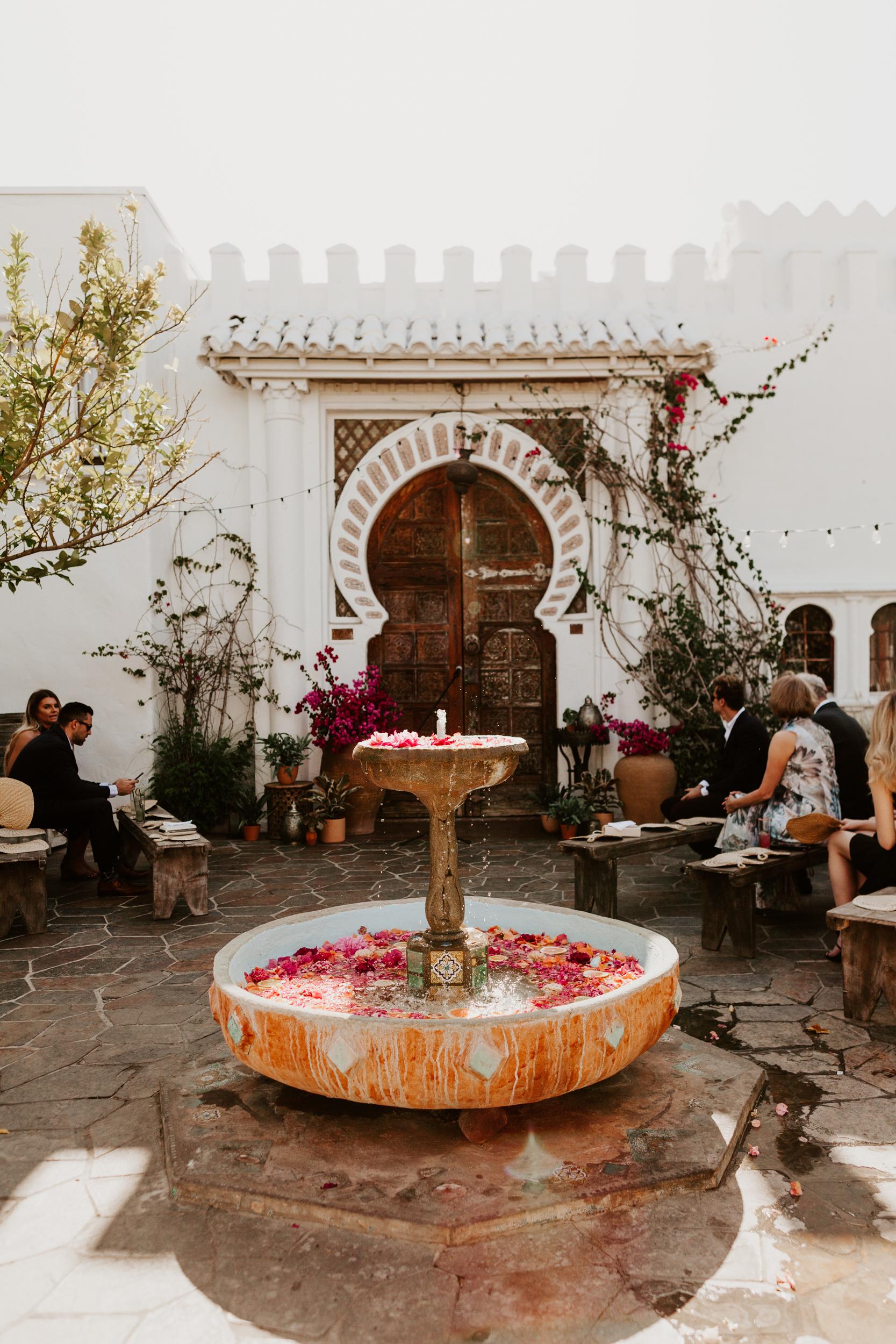Korakia Pensione Wedding Palm Springs Photography by Tida Svy